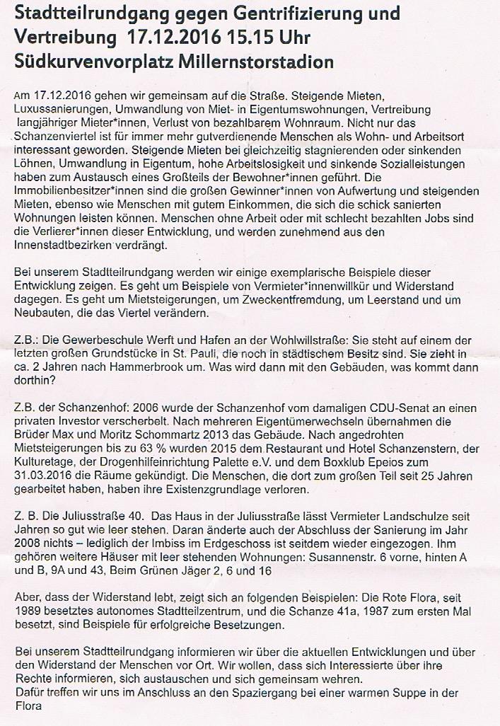 Initiative Schanzenhof – Das seit 25 Jahren bestehende alternative ...